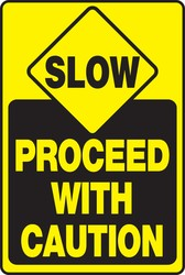 Slow Traffic Safety Sign: Proceed With Caution