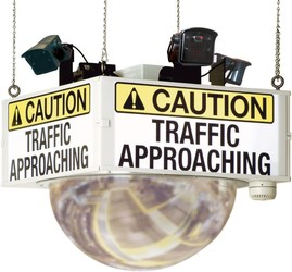 CAUTION TRAFFIC APPROACHING TRAFFIC ALERT MIRROR SYSTEM