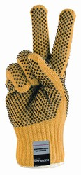 Kevlar® Cut-Resistant PVC Dotted Gloves